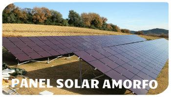 panel solar amorfo